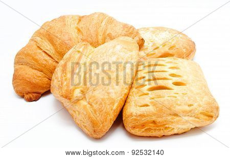 Assortment Of Fresh Puff Pastry Isolated