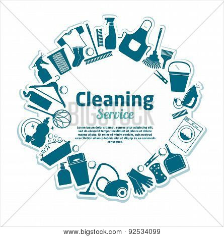 Cleaning Services Vector Illustration.