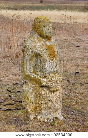 Ancient stone scythian idol.