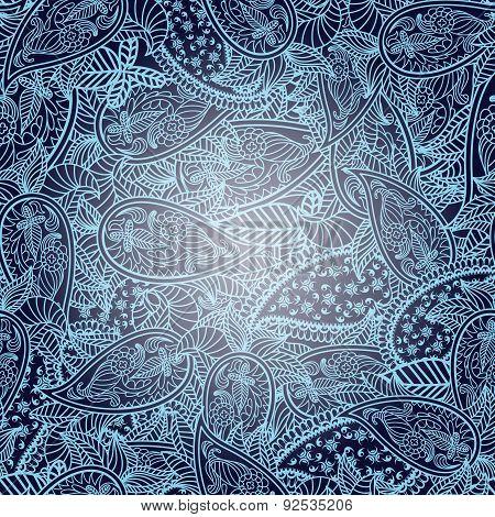 Oriental Seamless Paisley Pattern