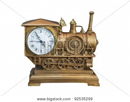 Souvenir Locomotive. Desktop Clock