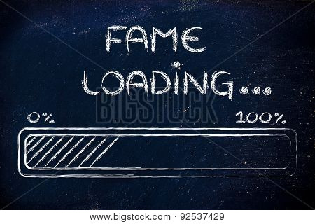 Funny Progress Bar With Fame Loading