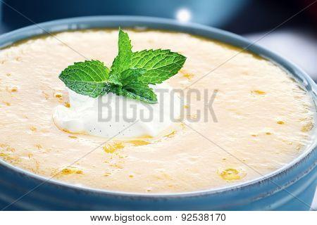 Peach Soup With Vanilla Sour Cream
