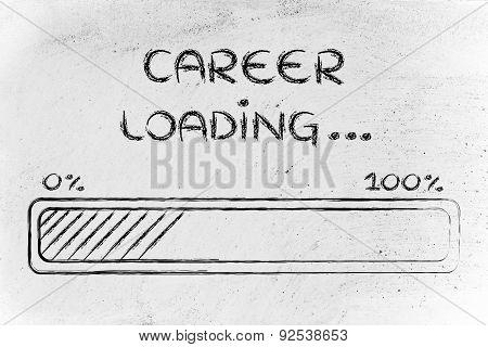 Funny Progress Bar With Career Loading
