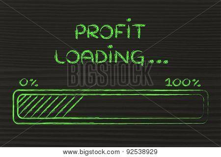 Funny Progress Bar With Profit Loading