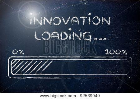 Funny Progress Bar With Innovation Loading