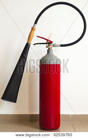 Fire extinguisher closeup