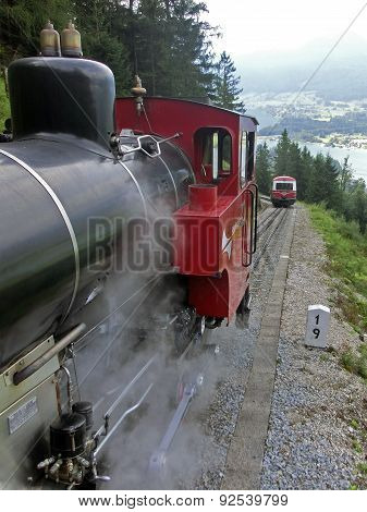 Mountain Railway At Schafberg In Austria Close To St. Wolfgang, 2012