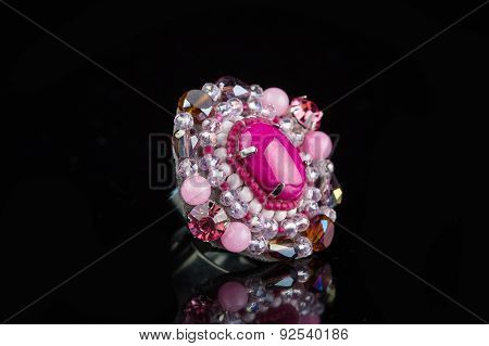 Diamond Ring in black background