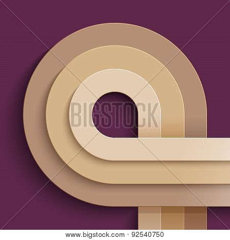 Infographics crossing beige paper circles on purple background