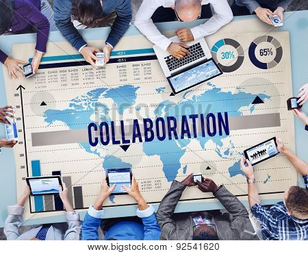 Collaboration Organization Partnership Company Member Concept
