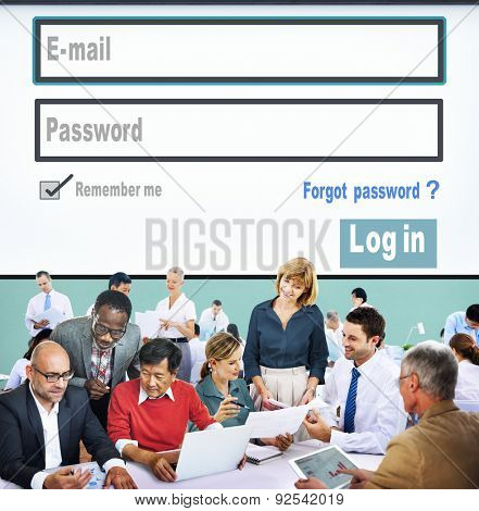 E-mail Identity Password Memebership Sing In Web Page Concept