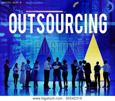 Outsourcing Subcontract Career Recruitment Concept