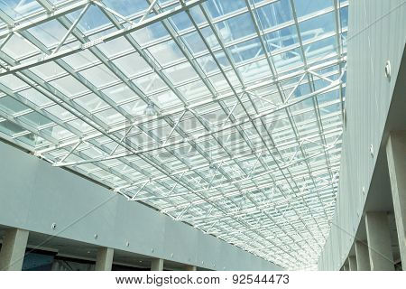 glass roof of moden buildings