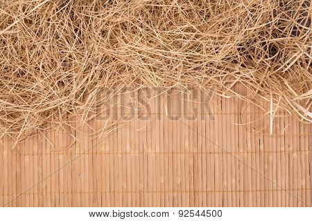 Close up of wicker as a detailed background