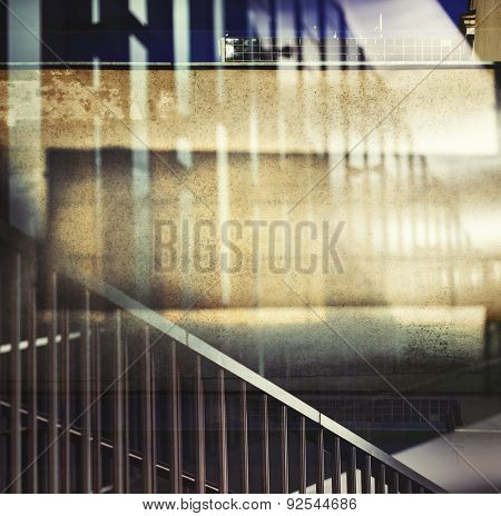 Abstract multiple exposure urban background.