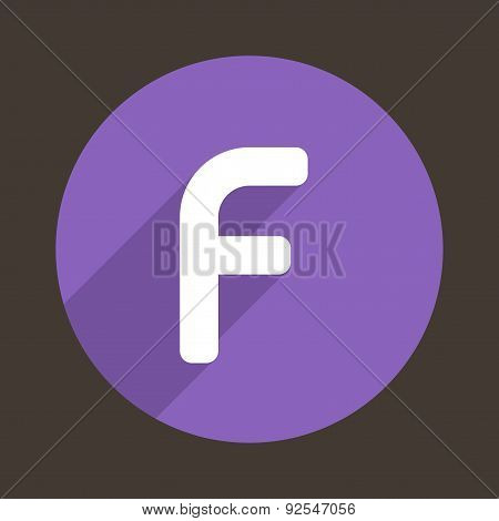 Letter F Logo Flat Icon Style. Vector