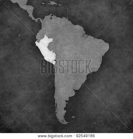 Map Of South America - Peru