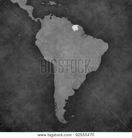 Map Of South America - Suriname