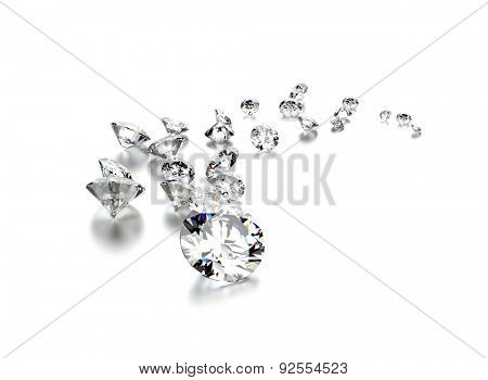 Diamonds. Jewelry background