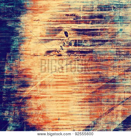 Vintage texture. With different color patterns: yellow (beige); blue; red (orange); purple (violet)