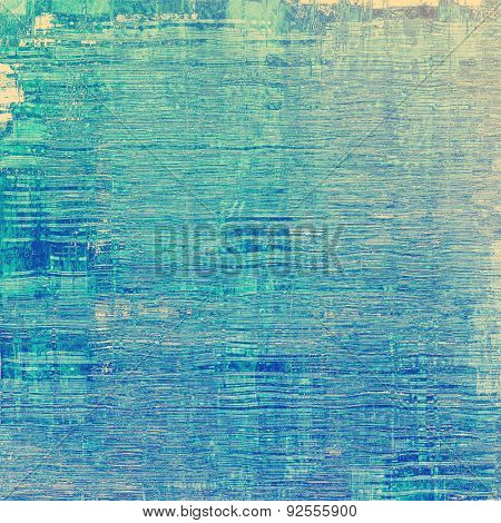 Dirty and weathered old textured background. With different color patterns: yellow (beige); blue; cyan