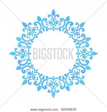 Round frame, Circular ornament design element, Vector