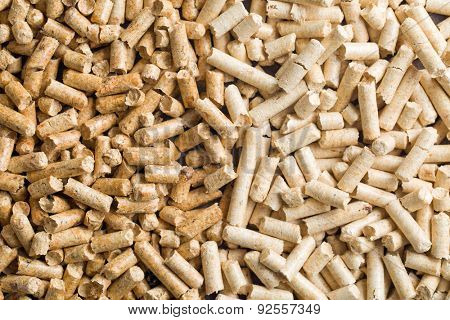 the dark and light wooden pellets