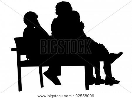 People of young guy and girl on white background