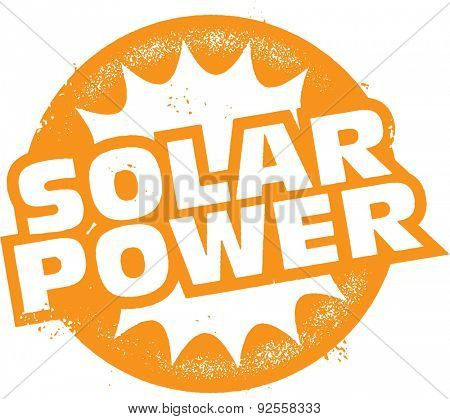 Solar Power Electricity Stamp