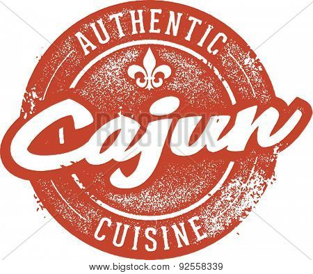 Authentic Cajun Cuisine Menu Stamp