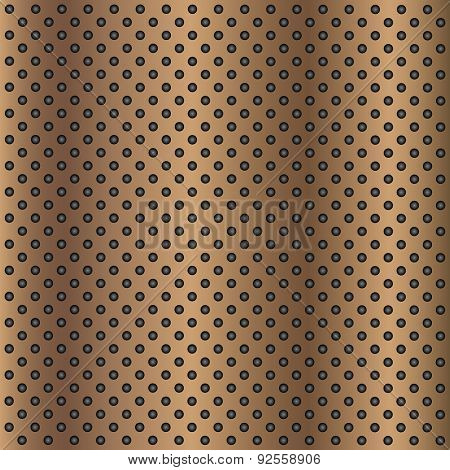 High resolution concept conceptual brown metal stainless steel aluminum perforated pattern texture mesh background