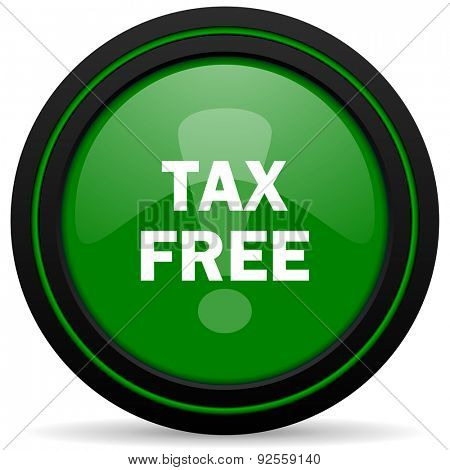 tax free green icon