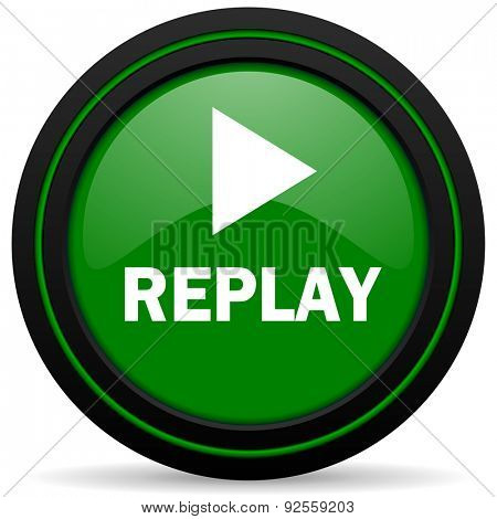 replay green icon