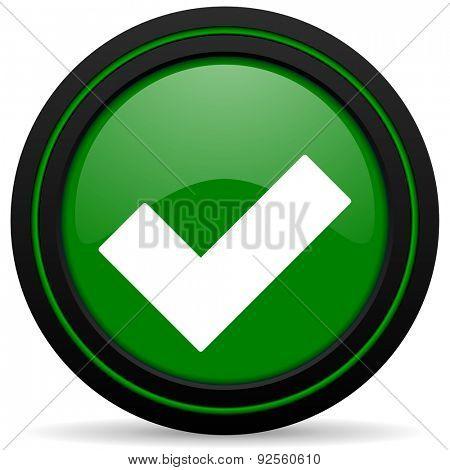 accept green icon check sign