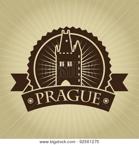 Vintage Retro Prague Seal