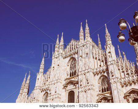 Retro Look Milan Cathedral