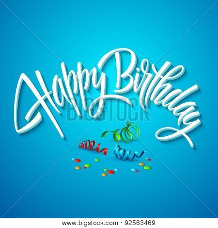 happy birthday card typography. Vector illustration