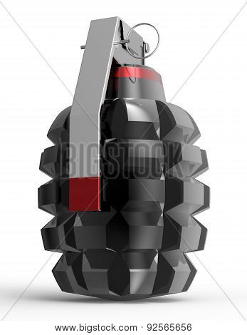 Hand Grenade Isolated On A White Background