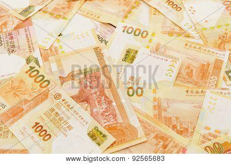 Thousand Hong Kong dollar background