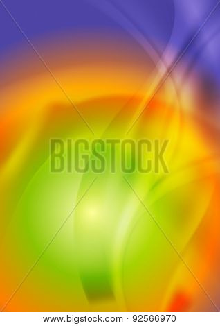 Bright iridescent abstract wavy background. Vector design