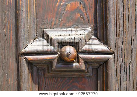 Abstract  House  Door     In Italy  Lombardy  Rusty