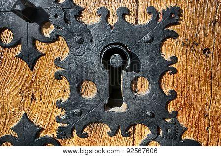 Ancient Keyhole Close-up