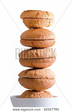 Neatly Stacked Tower Of Macaroons
