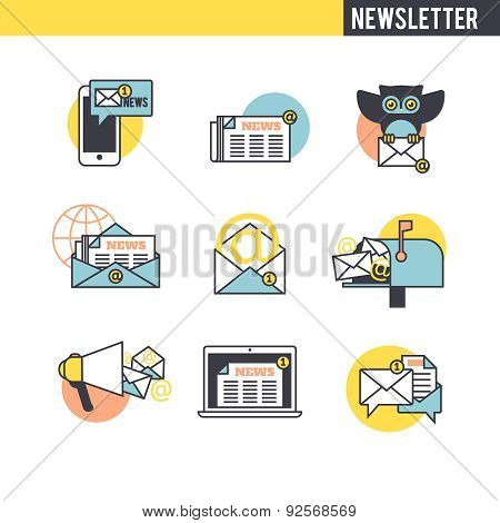 The concept of the newsletter.