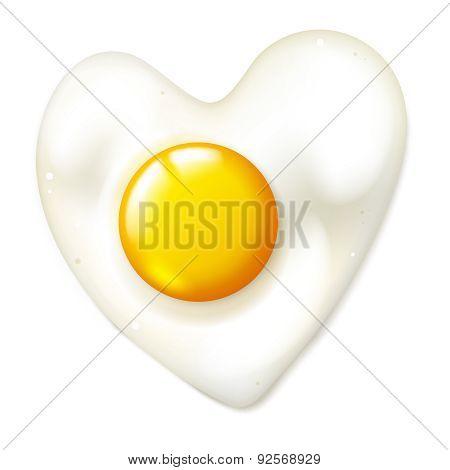 Heart Shaped Fryed Egg
