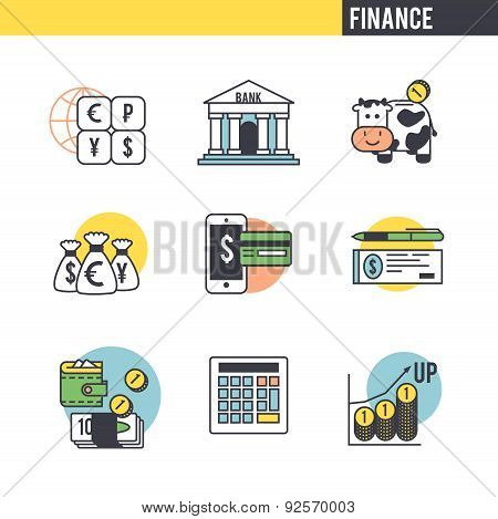 The character set associated with the Finance.