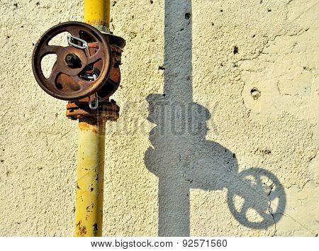 Gas Control Rusty Valve