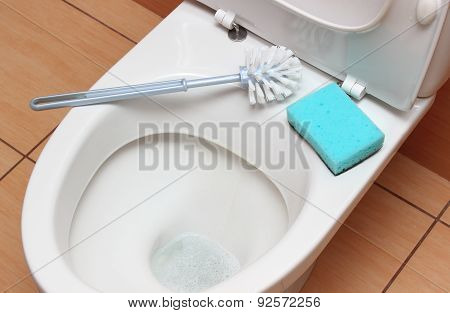 Accessories For Cleaning On Toilet Bowl