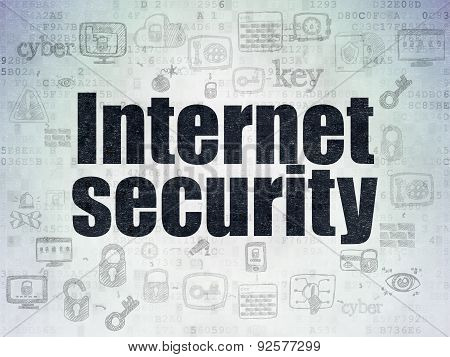 Privacy concept: Internet Security on Digital Paper background